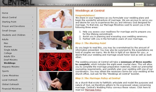 Central Christian Church of East Valley Premarital Ministry